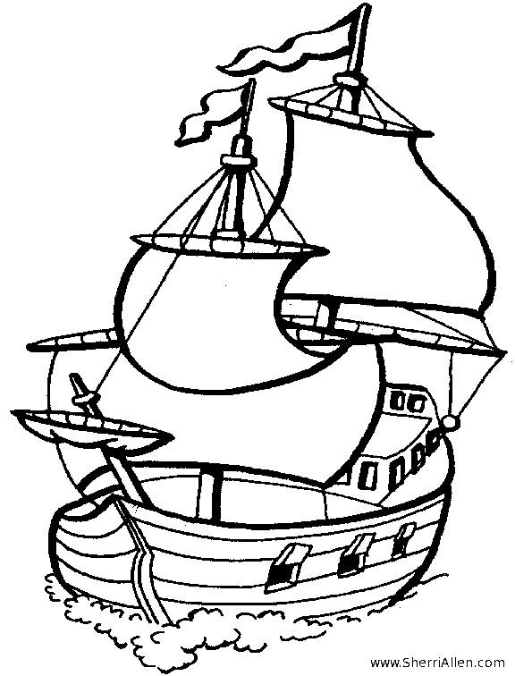 Coloriage et dessins gratuits Le Bateau des Pirates à imprimer