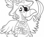 Coloriage Le Perroquet des Pirates