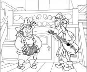Coloriage et dessins gratuit Les Pirates rigolos à imprimer