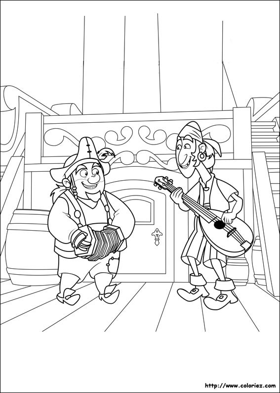 Coloriage et dessins gratuits Les Pirates rigolos à imprimer