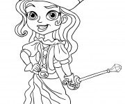 Coloriage pirate fille dessin gratuit imprimer - Coloriage fille pirate ...