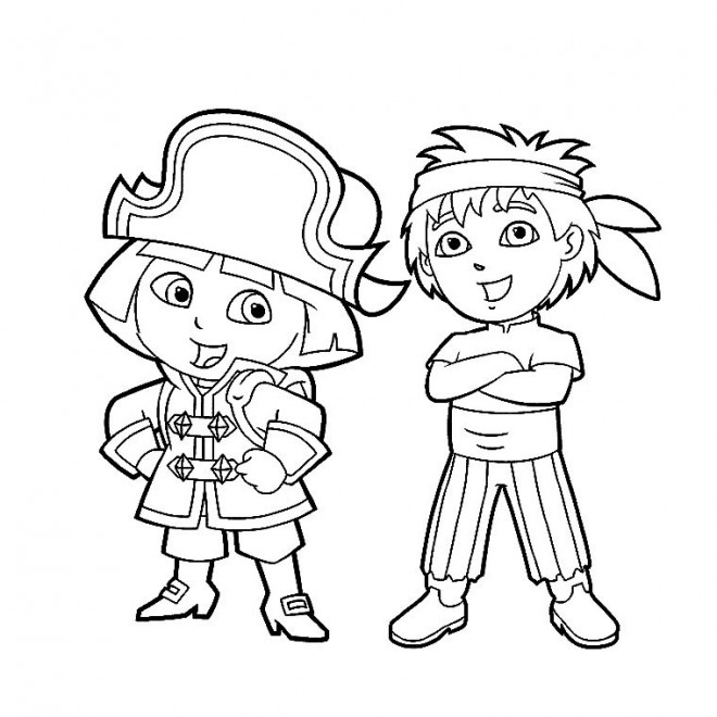 Coloriage pirates enfants dessin gratuit imprimer - Coloriage fille pirate ...