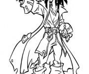 Coloriage Portrait  de Jack le Pirate