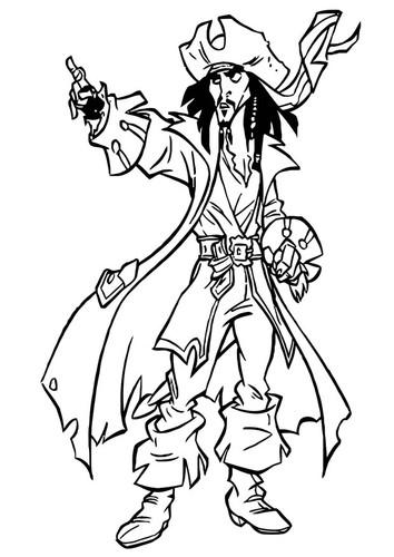 Coloriage et dessins gratuits Portrait  de Jack le Pirate à imprimer