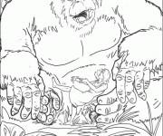 Coloriage dessin  King Kong 1
