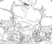Coloriage dessin  King Kong 10