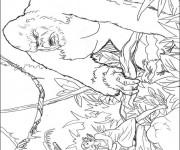 Coloriage dessin  King Kong 4