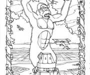 Coloriage King Kong gratuit à imprimer