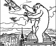 Coloriage King Kong à colorier