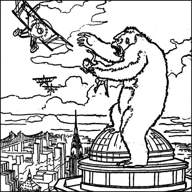 Coloriage et dessins gratuits King Kong à colorier à imprimer