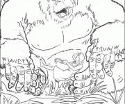 Coloriage et dessins gratuit King Kong dessin animé à imprimer