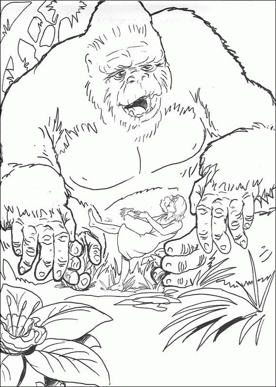 Coloriage et dessins gratuits King Kong dessin animé à imprimer