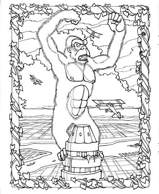 Coloriage et dessins gratuits King Kong en couleur à imprimer