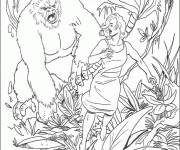 Coloriage et dessins gratuit King Kong en ligne à imprimer