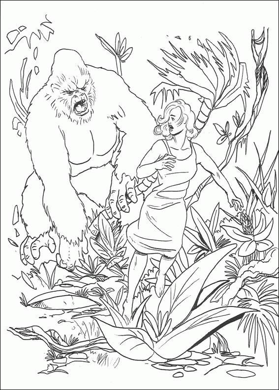 Coloriage et dessins gratuits King Kong en ligne à imprimer