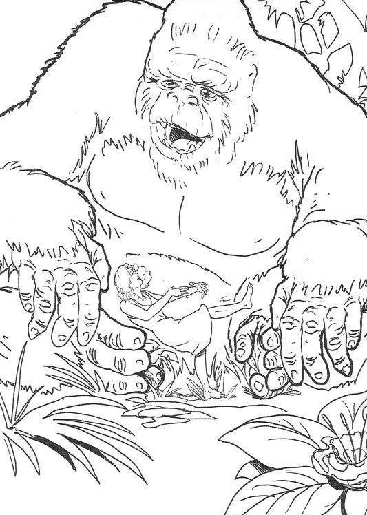 Coloriage et dessins gratuits King Kong maternelle à imprimer