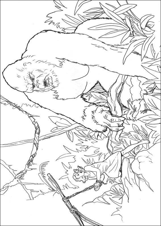 Coloriage et dessins gratuits King Kong stylisé à imprimer