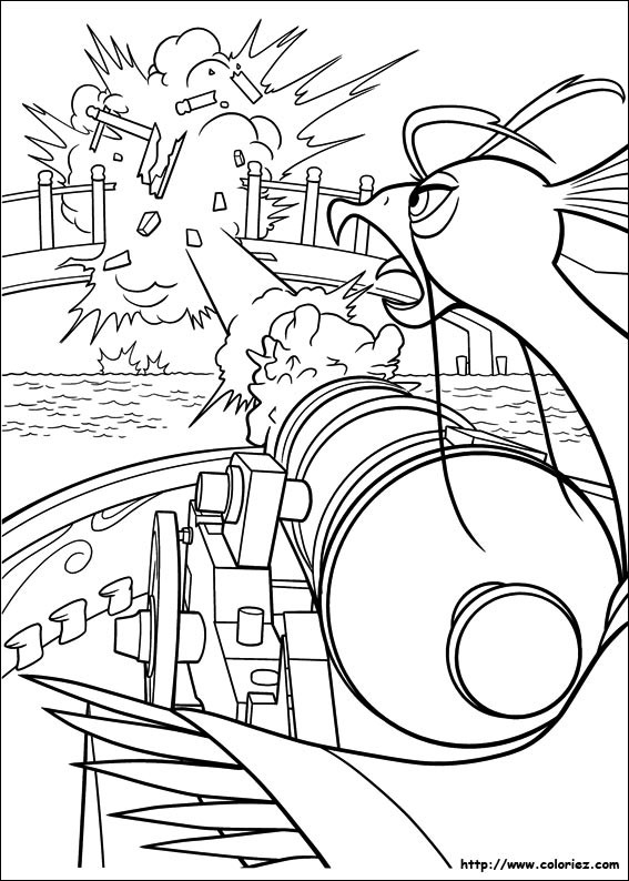 Coloriage et dessins gratuits À l'attaque Kung Fu Panda à imprimer