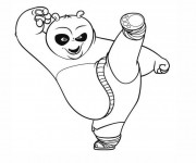 Coloriage et dessins gratuit Dessin de Po Kung Fu Panda à imprimer