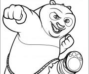 Coloriage Dessin facile de Po le panda