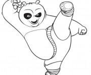 Coloriage et dessins gratuit Dessin Kung Fu Panda à imprimer