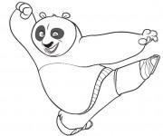 Coloriage dessin  Kung Fu Panda 7