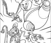 Coloriage et dessins gratuit Kung Fu Panda dessin animé à imprimer