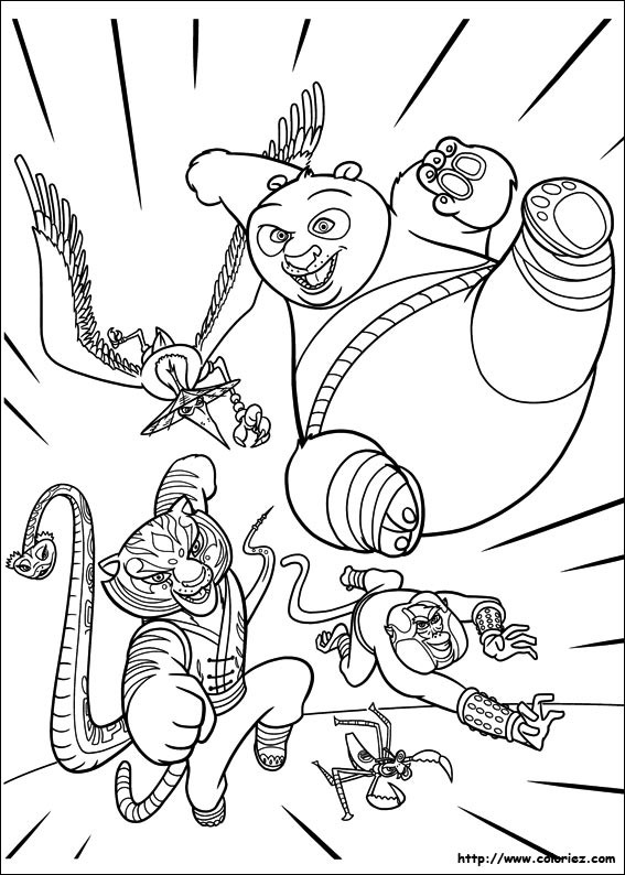 Coloriage kung fu panda dessin anim dessin gratuit imprimer - Coloriage kung fu panda ...
