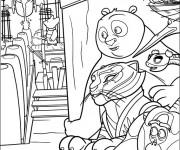 Coloriage Kung Fu Panda en mission