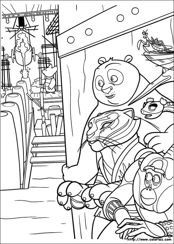 Coloriage kung fu panda en mission dessin gratuit imprimer - Coloriage a imprimer kung fu panda ...