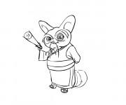 Coloriage Kung Fu Panda et le sage Shifu