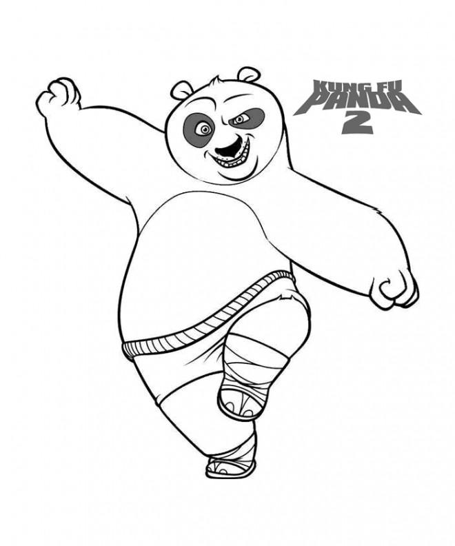 Coloriage et dessins gratuits Kung Fu Panda la suite à imprimer