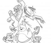 Coloriage et dessins gratuit Kung Fu Panda Le film à imprimer