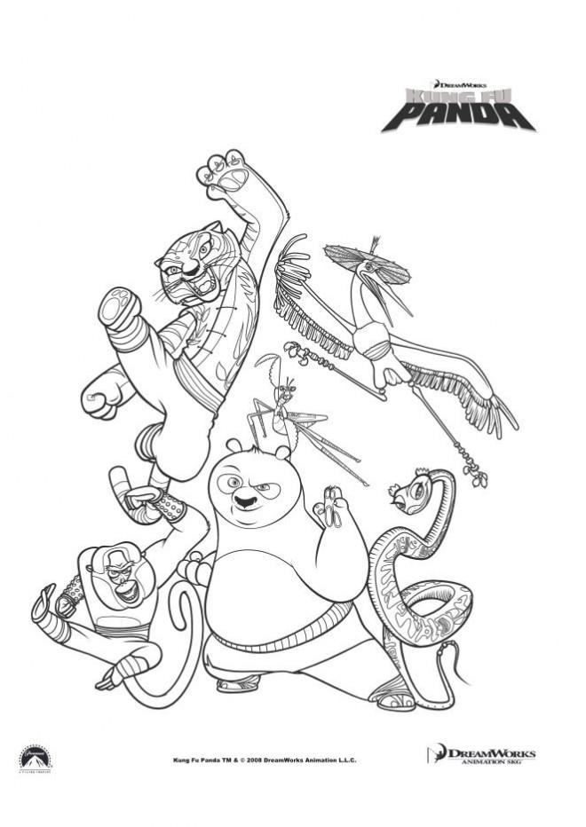Coloriage Kung Fu Panda Le film dessin gratuit à imprimer