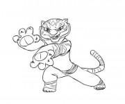 Coloriage et dessins gratuit Kung Fu Panda Maître Tigresse à imprimer