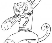 Coloriage Kung Fu Panda Tigresse