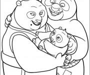Coloriage Kung Fu PandaPo et ses parents