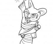Coloriage Maître Shifu dans Kung Fu Panda