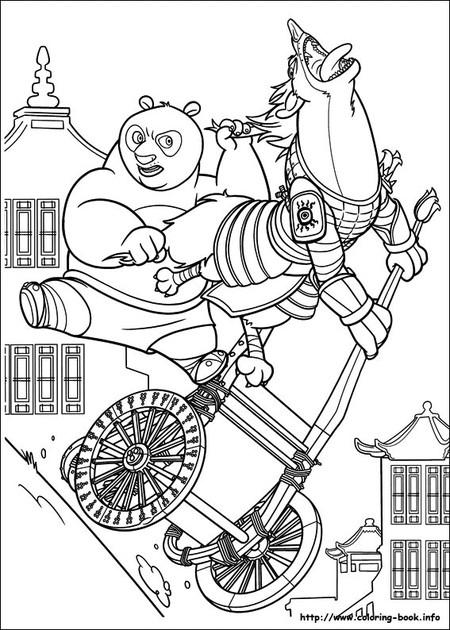 Coloriage et dessins gratuits Po attrape son adversaire à imprimer