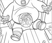 Coloriage et dessins gratuit Po surpris Kung Fu Panda à imprimer