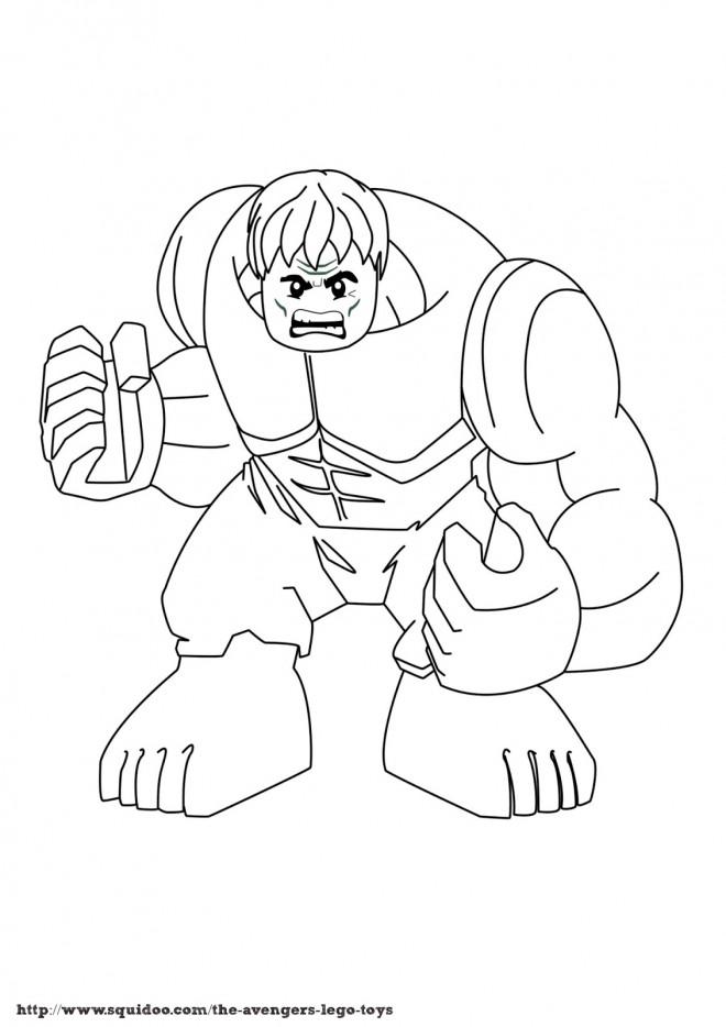 Coloriage Légo Avengers Hulk dessin gratuit à imprimer