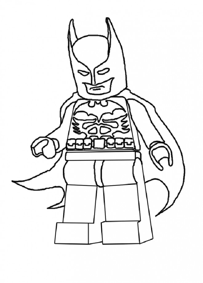 Coloriage et dessins gratuits Lego Batman facile à imprimer