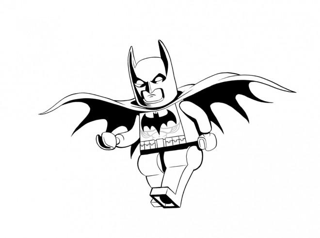 Coloriage et dessins gratuits Lego Batman vecteur à imprimer