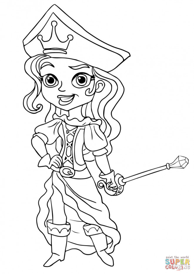 Coloriage pirate fille dessin gratuit imprimer - Coloriage jack le pirate ...