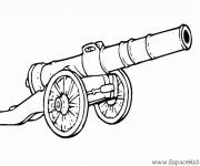 Coloriage et dessins gratuit Cannon Pirate à imprimer