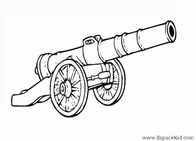 Coloriage et dessins gratuits Cannon Pirate à imprimer