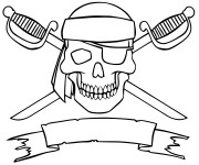 Coloriage Drapeau des pirates