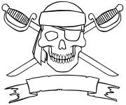 Coloriage dessin  Drapeau des pirates