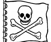 Coloriage et dessins gratuit Drapeau Pirate à imprimer