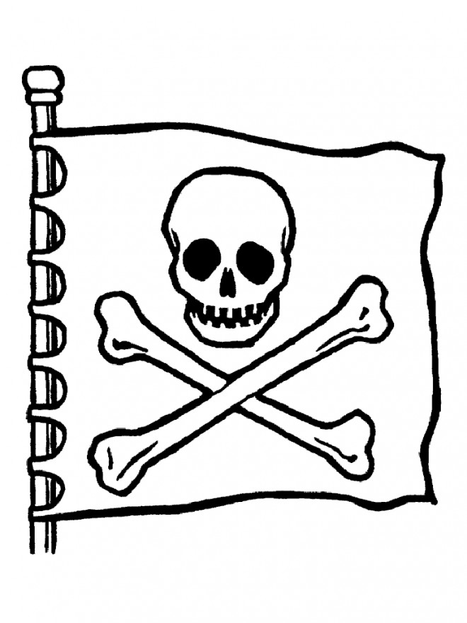 Coloriage et dessins gratuits Drapeau Pirate à imprimer